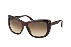 Tom Ford Lindsay FT 0434/s 52K, Butterfly Sonnenbrillen, Braun