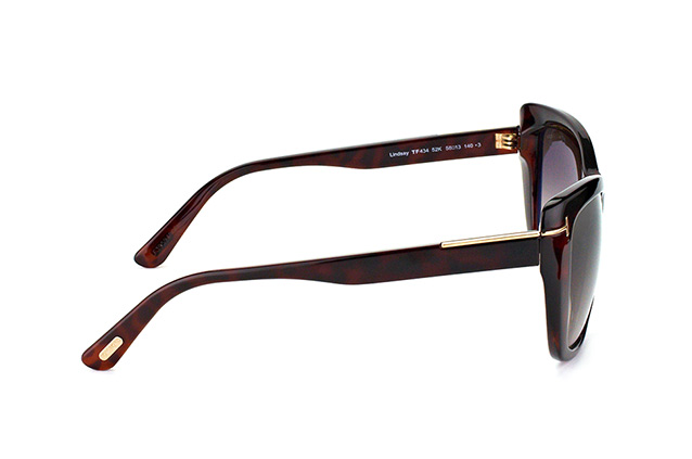 Tom Ford Lindsay FT 0434/S 52K vista en perspectiva
