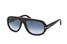 Tom Ford Hugo FT 0444/s 52W, Aviator Sonnenbrillen, Havana