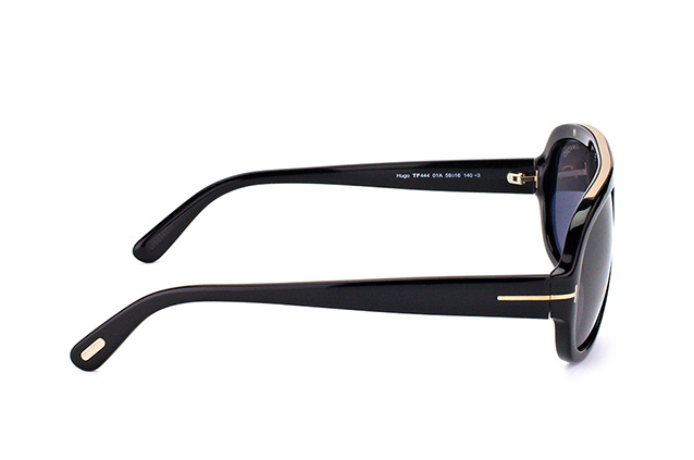 Tom Ford Hugo FT 0444/S 01A vista en perspectiva