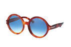 Tom Ford Juliet FT 0369/S 01B Havana / Gradient grey perspective view thumbnail