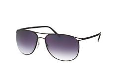 Silhouette 8689 40-6235, Aviator Sonnenbrillen, Schwarz