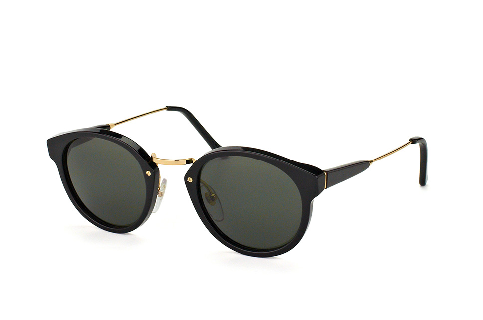 Super by Retrosuperfuture Panama Black Pmk/r, Round Sonnenbrillen, Schwarz