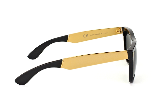 Super by Retrosuperfuture Classic Francis Black Gold 202 vista en perspectiva