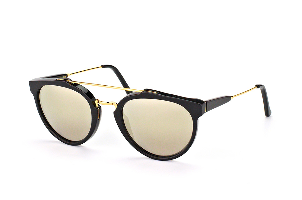 Super by Retrosuperfuture Giaguaro Black Ivory Mio/r, Aviator Sonnenbrillen, Goldfarben