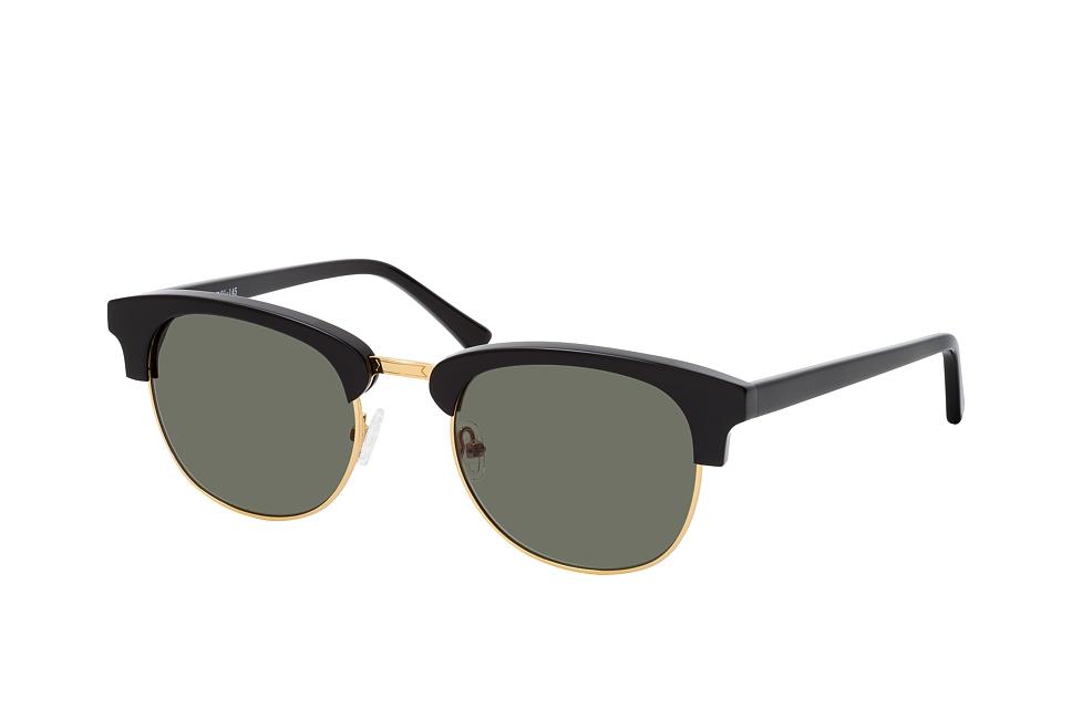 , Browline Sonnenbrillen, Schwarz