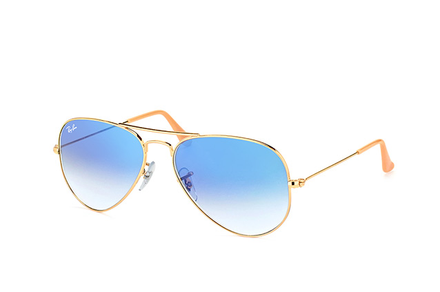 ray ban aviator small gold braun