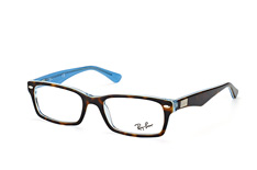 ray-ban-rx-5206-5023-rectangle-brillen-havana