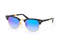 Ray-Ban Folding RB 2176 901-S/7Q, Browline Sonnenbrillen, Goldfarben