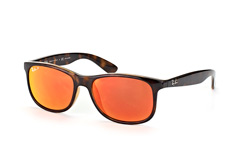 Ray-Ban Andy RB 4202 710/6S, Square Sonnenbrillen, Dunkelbraun