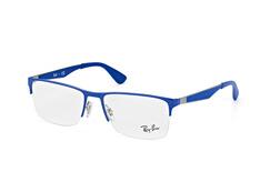 Ray-Ban RX 6335 2889, Square Brillen, Blau