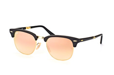 Ray-Ban Folding RB 2176 901-S/7O, Browline Sonnenbrillen, Goldfarben