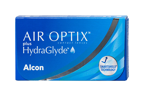 Air Optix Air Optix plus HydraGlyde front view