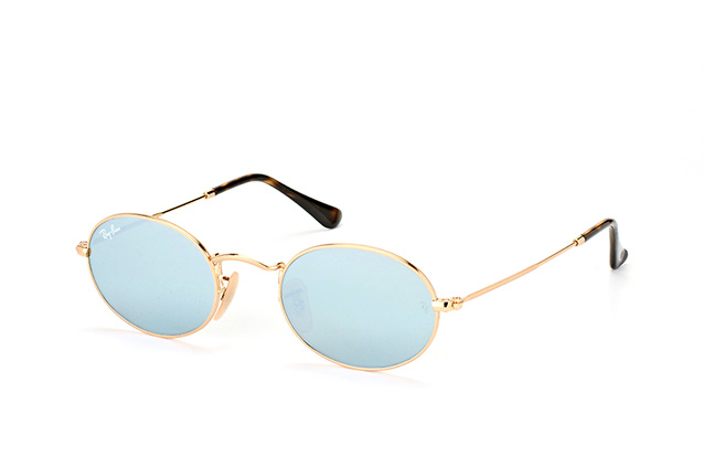Ray-Ban Oval RB 3547N 001/30 small vista en perspectiva