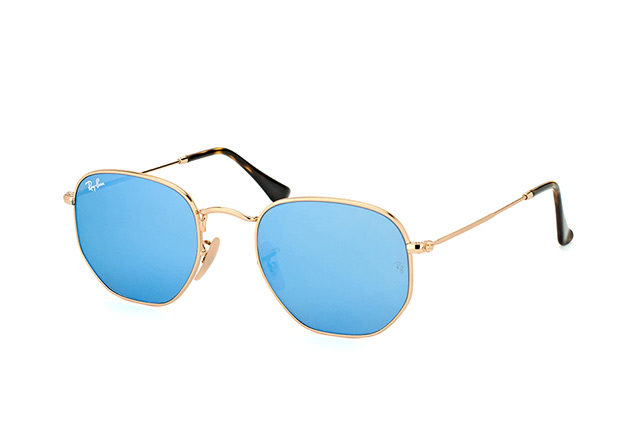 Ray-Ban Hexagonal RB 3548N 001/9O Perspektivenansicht