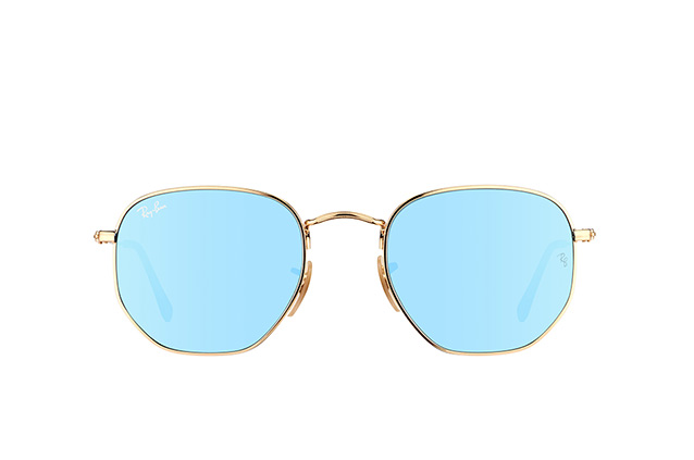 Ray-Ban Hexagonal RB 3548N 001/9O vista en perspectiva