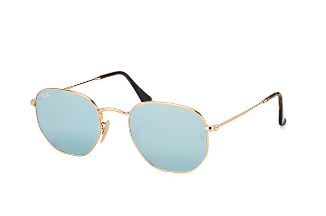 Ray-Ban Hexagonal RB 3548N 001/30 Perspektivenansicht