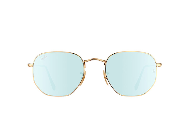 Ray-Ban Hexagonal RB 3548N 001/30 perspective view