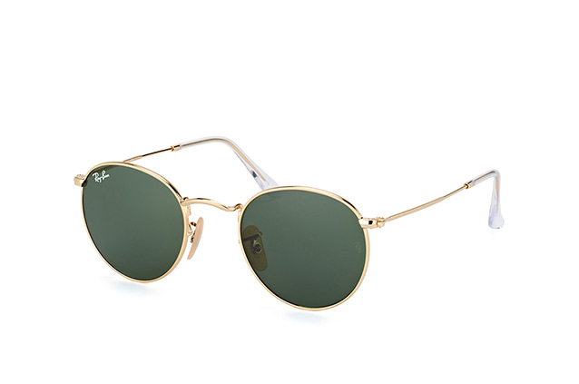 d1aa8ba8e5bbbd Ray-Ban Round Metal RB 3447 001 small perspective view ...