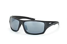 Uvex 222 Pola 2250, Sporty Sonnenbrillen, Schwarz