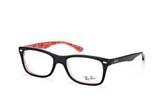 ray-ban-rx-5228-2479-rectangle-brillen-rot
