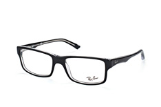 Ray-Ban RX 5245 2034, Rectangle Brillen, Schwarz