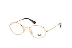 Ray-Ban RX 3547V 2500, Round Brillen, Goldfarben