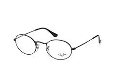 ray-ban-rx-3547v-2509-round-brillen-schwarz