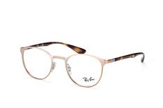 Ray-Ban RX 6355 2732, Round Brillen, Goldfarben
