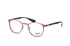 Ray-Ban RX 6355 2922, Round Brillen, Rot