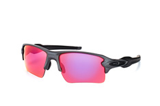 Oakley Flak OO 9188 49, Rectangle Sonnenbrillen, Grau