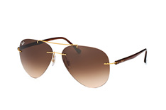 Ray-Ban Light Ray RB 8058 157/13, Aviator Sonnenbrillen, Goldfarben