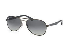 Ray-Ban RB 3549 029/11 large, Aviator Sonnenbrillen, Grau