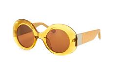 Linda Farrow RO 48 4 Ocre Taupe, Round Sonnenbrillen, Goldfarben