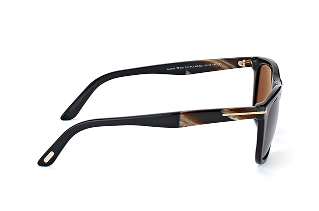 Tom Ford Andrew FT 0500/S 01H vista en perspectiva