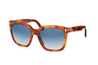 Tom Ford Amarra FT 0502/S 53W Havana / Gradient blue perspective view thumbnail