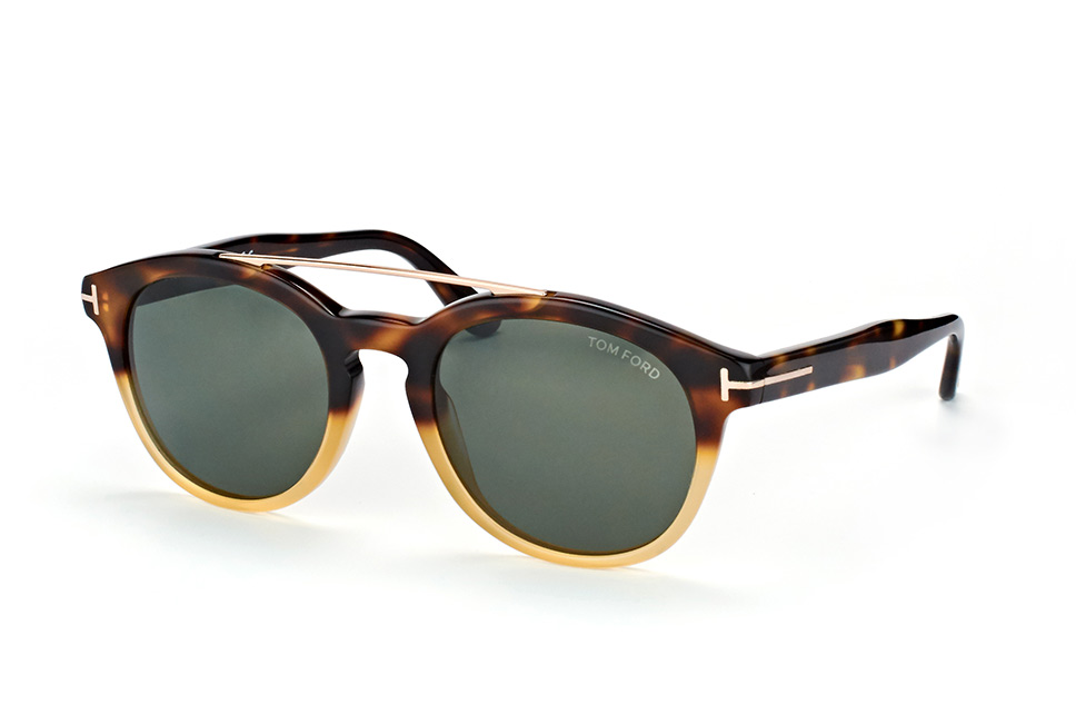 tom ford -  Newman FT 0515/s 56N, Aviator Sonnenbrillen, Havana