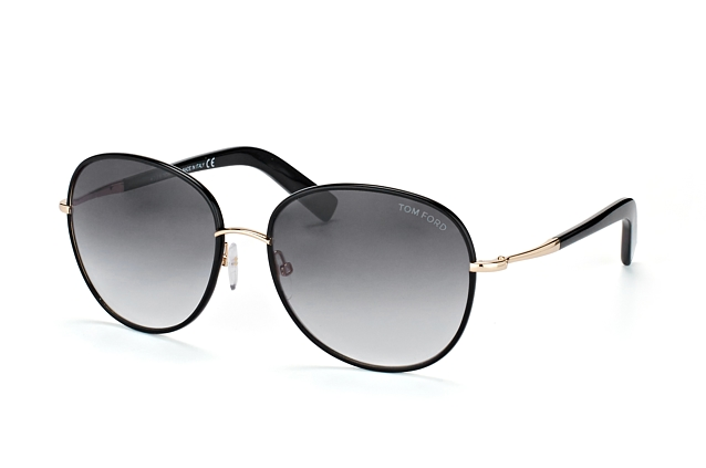 Tom Ford Georgia FT 0498/S 01B Perspektivenansicht