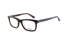 Blinde BL Fess Up chestnut stripe, Rectangle Brillen, Blau