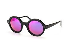 Illesteva IL Frieda Black w pink mirror, Round Sonnenbrillen, Schwarz