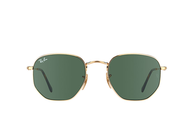 Ray-Ban Hexagonal RB 3548N 001 S perspective view