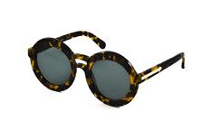 Karen Walker Eyewear KW Joyous-crazy tortoise, Round Sonnenbrillen, Dunkelbraun