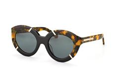 Karen Walker Eyewear KW Flowerpatch Tortoise Black, Butterfly Sonnenbrillen, Braun