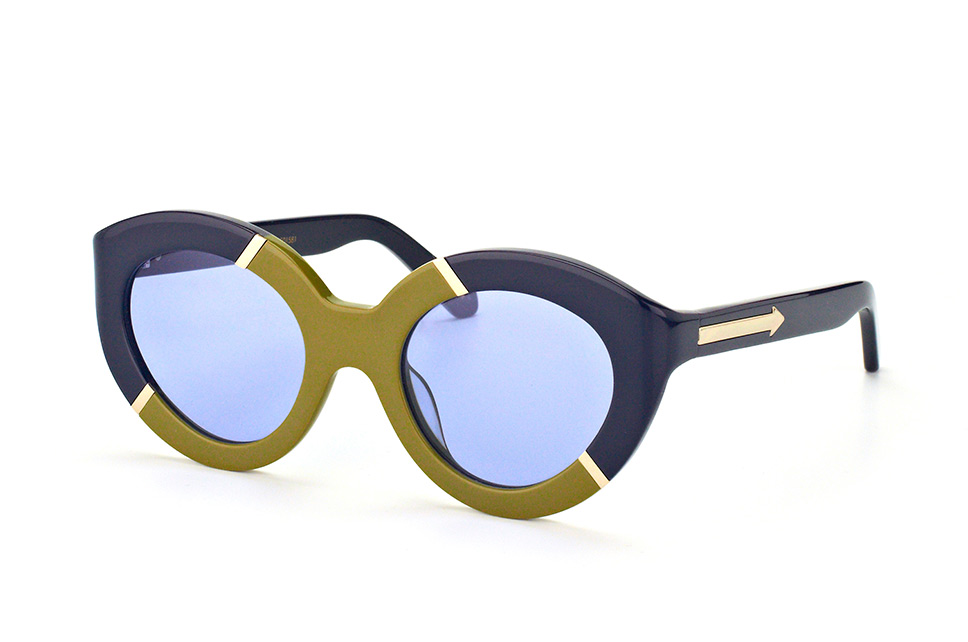 Karen Walker Eyewear KW Flowerpatch Navy Khaki Gold