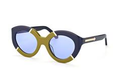 Karen Walker Eyewear KW Flowerpatch Navy Khaki Gold, Butterfly Sonnenbrillen, Grün