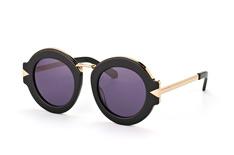 Karen Walker Eyewear KW Maze Black Gold, Round Sonnenbrillen, Schwarz
