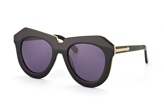 Karen Walker Eyewear KW One Meadow Black Gold Perspektivenansicht