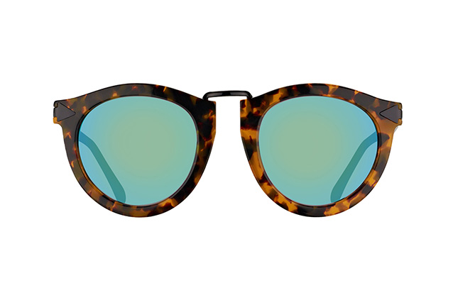 Karen Walker Eyewear KW superstars edit. Tortoise Perspektivenansicht