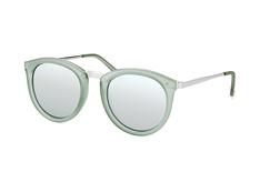 Le Specs No Smirking LSP 1602178, Round Sonnenbrillen, Gruen