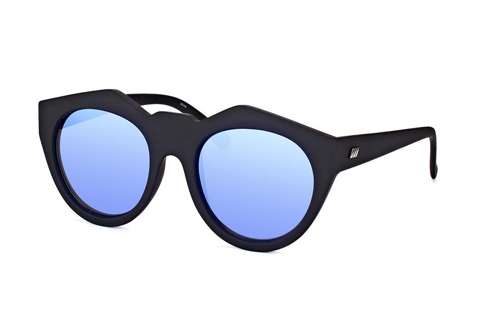 Le Specs Neo Noir 1602157, Round Sonnenbrillen, fuer Manner, Größe: Medium, Farbe: Schwarz, Material: Kunststoff / Plast, Hersteller: Le Specs, Styl: Modern. Sonnen- und Blendschutz. Brillenbreite: Fullframe mm, Glashöhe: 49 mm, Glasbreite: 55 mm, Stegbreite: 19 mm, Bügellä